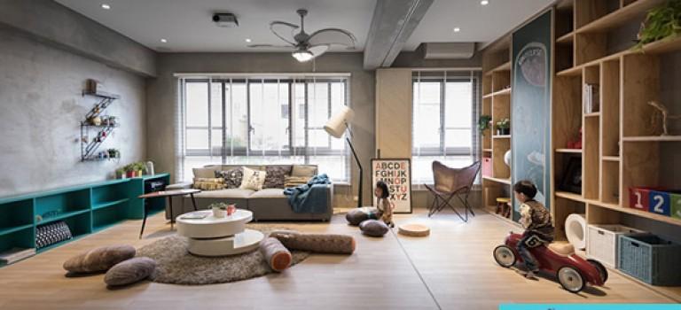 معماری داخلی فضای مسکونی با پلانی انعطاف پذیر