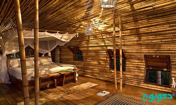 طراحی بی نظیر کلبه جنگلی از جنس بامبو در مکزیک