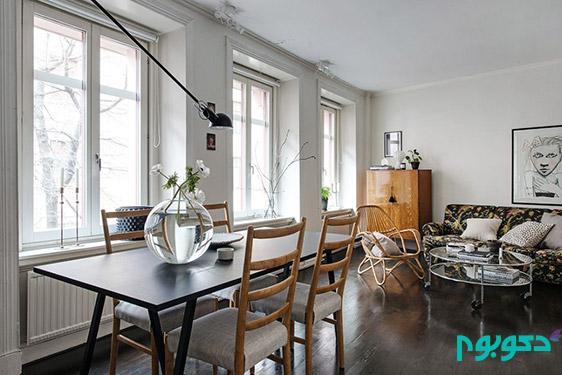 دکوراسیون داخلی آپارتمان های کوچک سوئدی