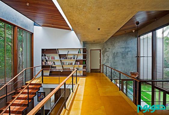 طراحی گرم و صنعتی در دکوراسیون این خانه هندی