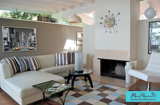 رنگ خاکستری مایل به قهوه ای در دکوراسیون منزل