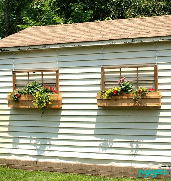 زیبا سازی خانه و منظر شهری با گلدان های زیر پنجره