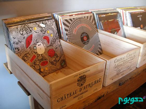 دکوراسیون منزل با جعبه های چوبی