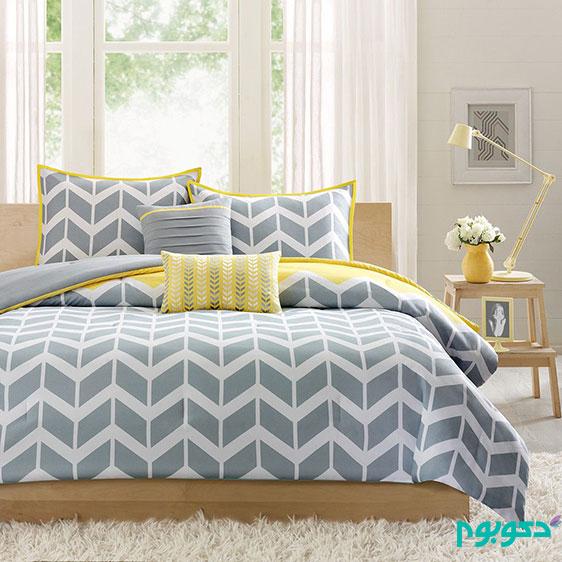 دکوراسیون اتاق خواب، گردش انرژی با زرد و خاکستری