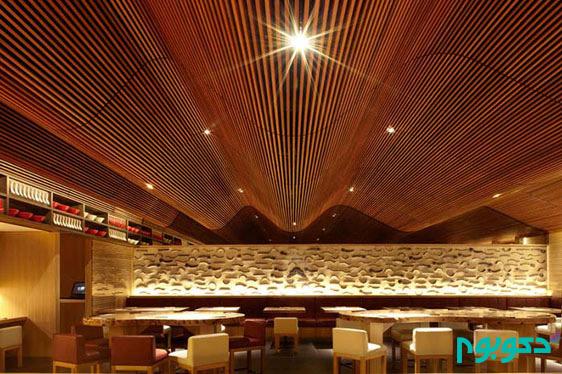 طراحی سقف با متریال بی نظیر چوب