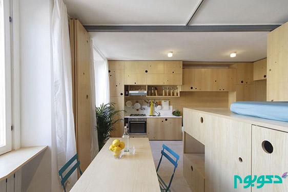 خلاقیت در دکوراسیون داخلی آپارتمان با محدودیت متراژ (قسمت هفتم)