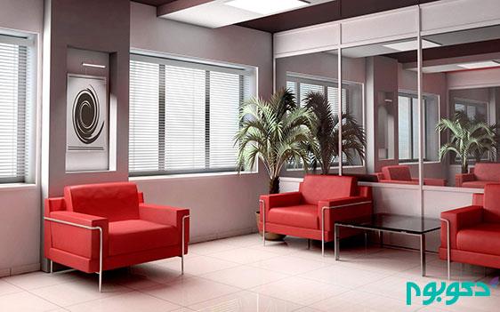 دکوراسیون داخلی و ترکیب کلاسیک قرمز و مشکی