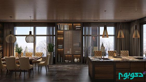 طراحی داخلی خانه: لوکس و مجلل