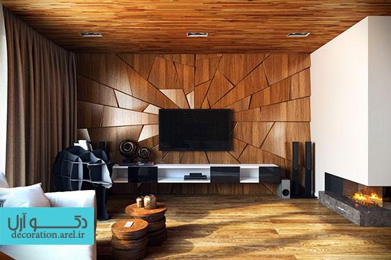 ایده هایی زیبا برای طراحی دیوار سالن نشیمن