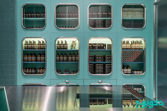 دکوراسیون داخلی فروشگاه Aesop