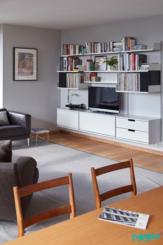 دکوراسیون آپارتمان مینیمال در لندن