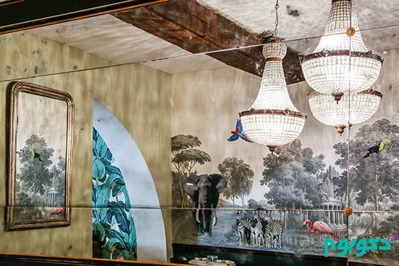 دکوراسیون داخلی رستوران، طراحی به سبک شهر رم