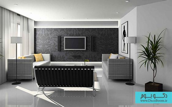 سیاه، سفید، خاکستری، شگفتی سازدر دکوراسیون داخلی