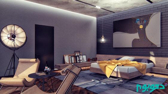 جذابیت دکوراسیون داخلی اتاق خواب با تِم مشکی