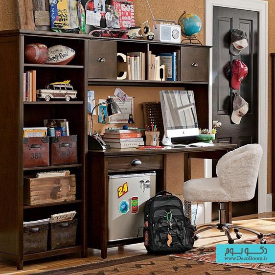 فضای مطالعه در اتاق خواب،اتاق خواب نوجوان