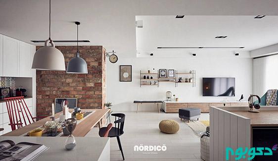 طراحی داخلی به سبک نیمکره شمالی!