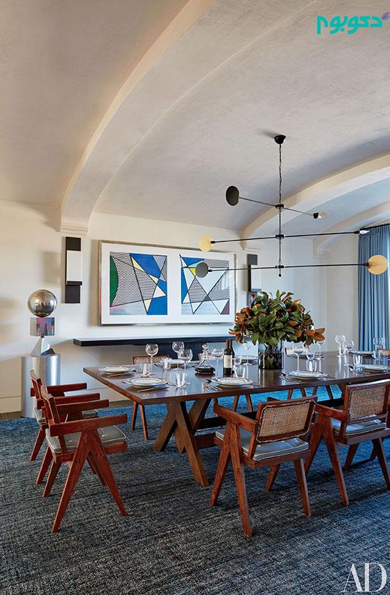 دکوراسیون منزل هنرمندان: اتاق غذا خوری