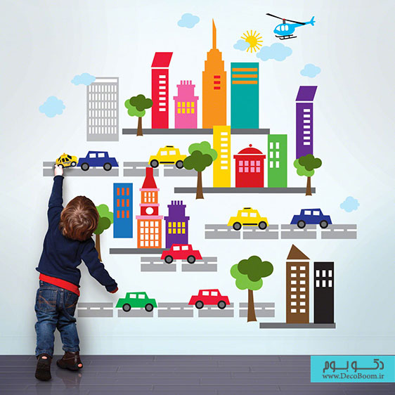city-kids-wall-decal-ideas-for-kids-room-interior