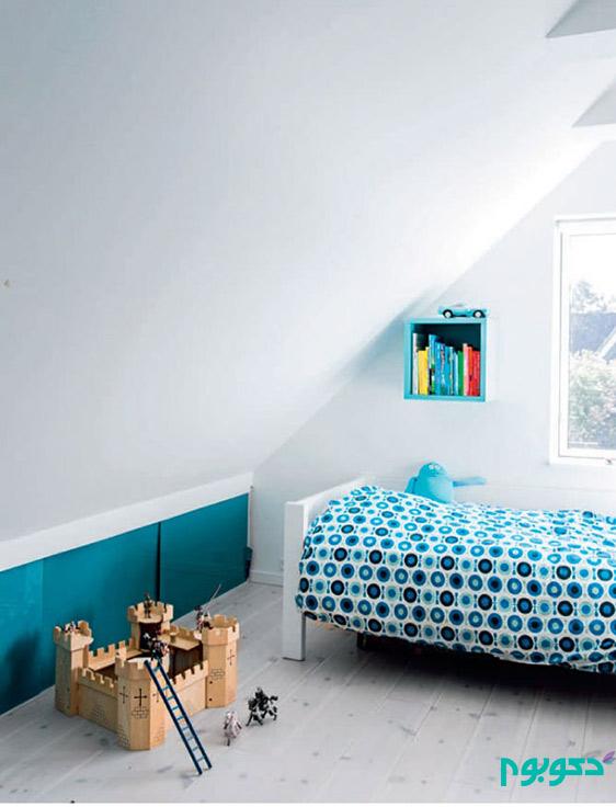 بازی رنگ های با طراوت و دکوراسیون داخلی خانه ای در دانمارک