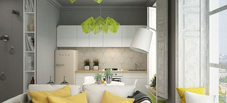 دکوراسیون منزل کوچک: سرزنده با رنگ های جسورانه