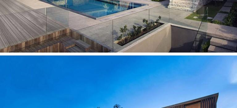 رنگ های خالص و طبیعی در طراحی خانه ای مشرف به اقیانوس
