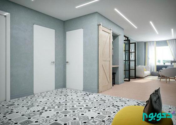 دکوراسیون داخلی منزل و تاکید رنگ زرد در محیط