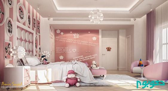 دکوراسیون اتاق کودکبا رنگ های لطیف و جذاب