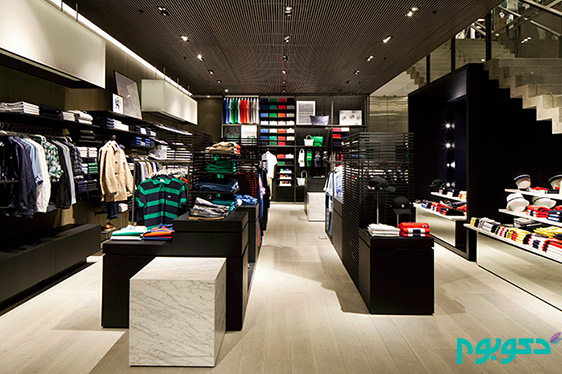 دکوراسیون داخلی فروشگاه برندهای معروف: Lacoste