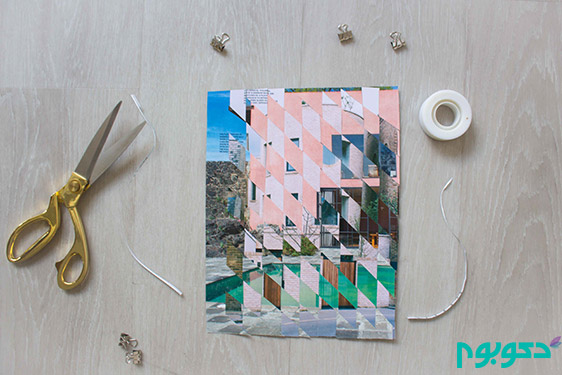 ساخت تابلو دکوراتیو با استفاده از برش عکس