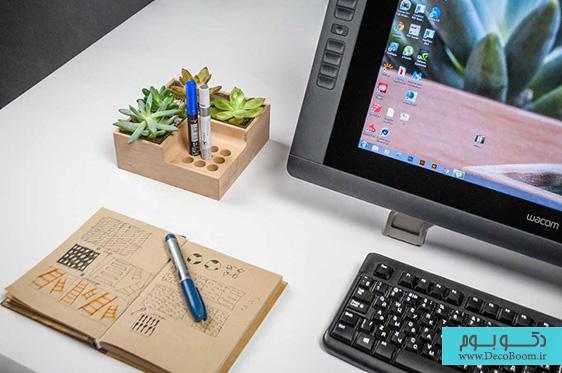 نمایش خلاقانه گیاهان در فضاهای اداری و خانگی