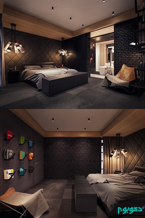 دکوراسیون اتاق خواب، تاریک و رویایی