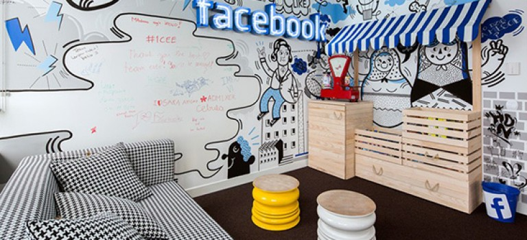 طراحی داخلی دفتر کار فیس بوک