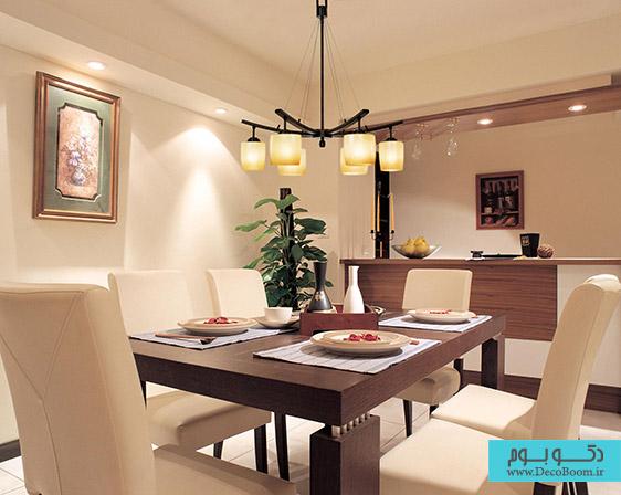 نور پردازی اتاق غذا خوری