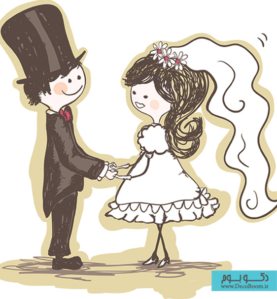 free-vector-handpainted-version-of-the-bride-and-groom-02-vector_003165_2