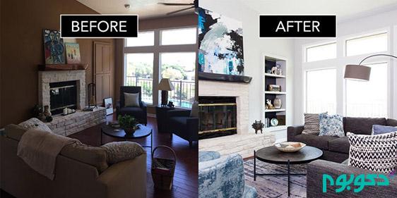 دکوراسیون منزل: قبل و بعد از طراحی