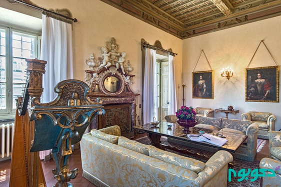 دکوراسیون داخلی خانه ای که تابلو مونالیزا در آن کشیده شده است!