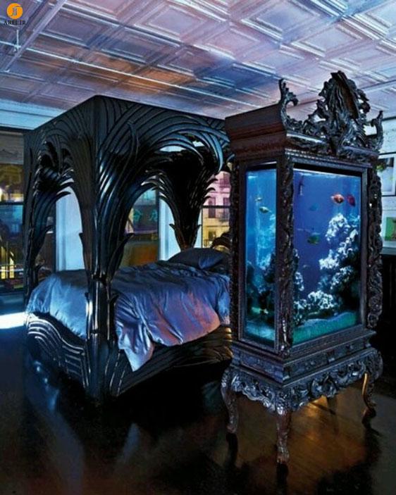 دکوراسیون داخلی اتاق خواب به سبک گوتیک