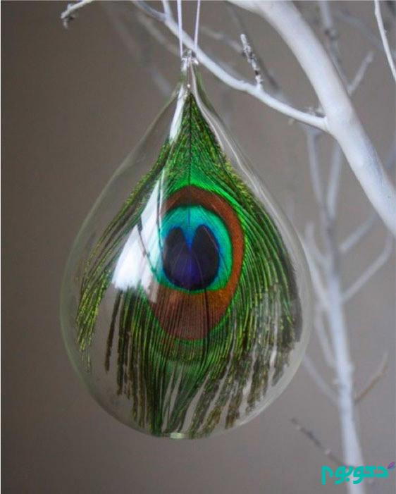 جزییات تزیینی خانه با رنگ و طرح طاووس