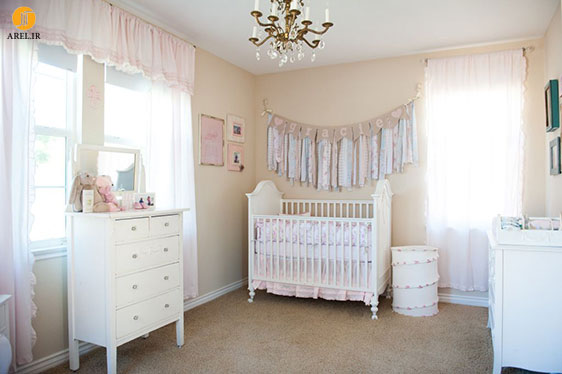 نمونه های دکوراسیون داخلی اتاق نوزاد دخترانه