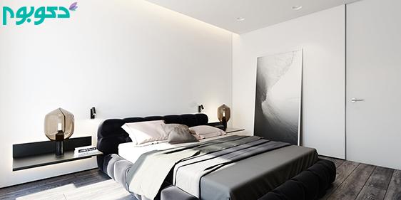 دکوراسیون داخلی خانه مینیمال با رنگ های سفید و سیاه