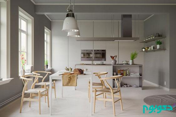 دکوراسیون حیرت انگیز اتاق غذا خوری به سبک مردم اسکاندیناوی