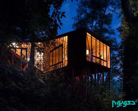 طراحی خانه در قلب طبیعت شیلی