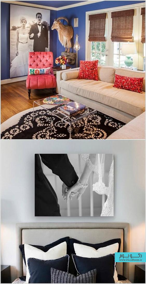 استفاده از تابلو در منزل،تابلو عکس برای خانه