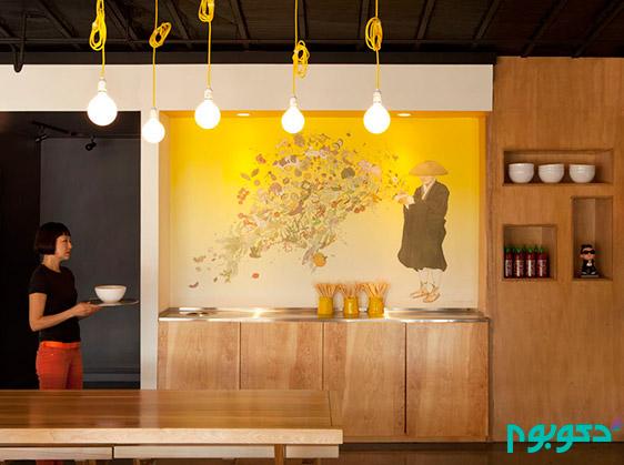 دکوراسیون داخلی رستوران yellow fever