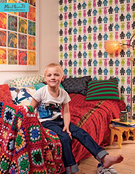 کاغذ دیواری برای اتاق کودکان