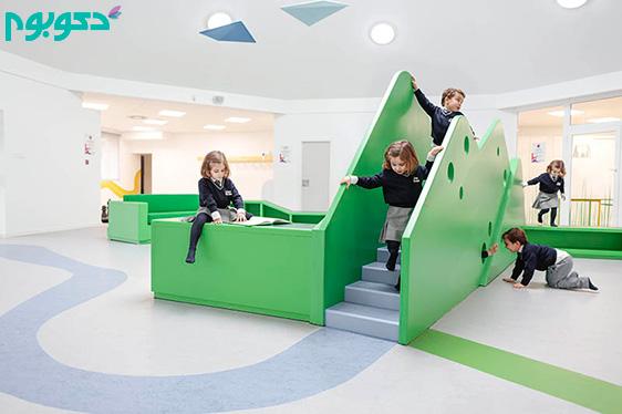 طراحی داخلی شگفت انگیز مهدکودک