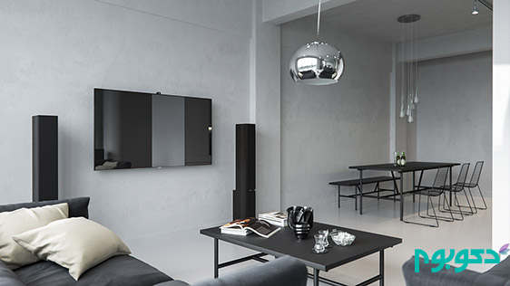 دیوار های بتنی نمایان در دکوراسیون داخلی منزل