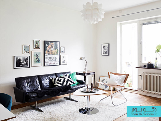 living-room-exciting-white-modern-living-room-design-for-small-space-combined-sectional-small-black-leather-couches-plus-unique-teak-wood-coffee-table-top-also-chrome-swivel-base-and-white