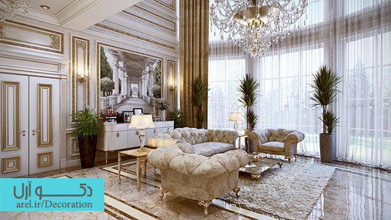5 نمونه دکوراسیون داخلی لاکچری و کلاسیک در آپارتمان های مسکونی