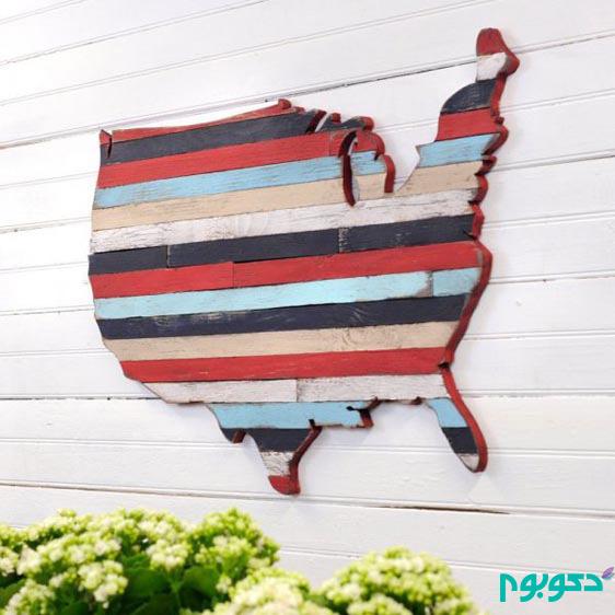 دکوری های چوبی بر روی دیوار دنج ِ خانه